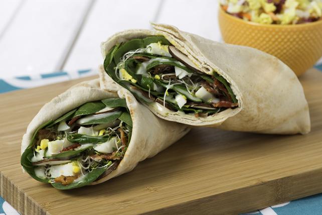 Sandwichs roulés jardinière aux épinards Image 1