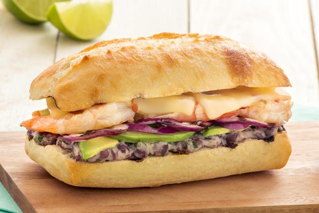Sandwich aux crevettes grillées à la mode mexicaine Image 1