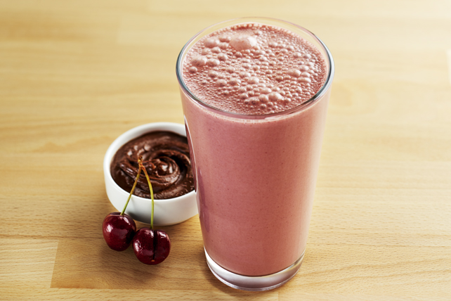 Chocolatey Cherry Peanut Butter Smoothie