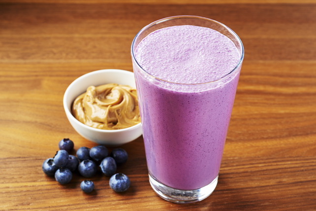 Blueberry Bliss Peanut Butter Smoothie