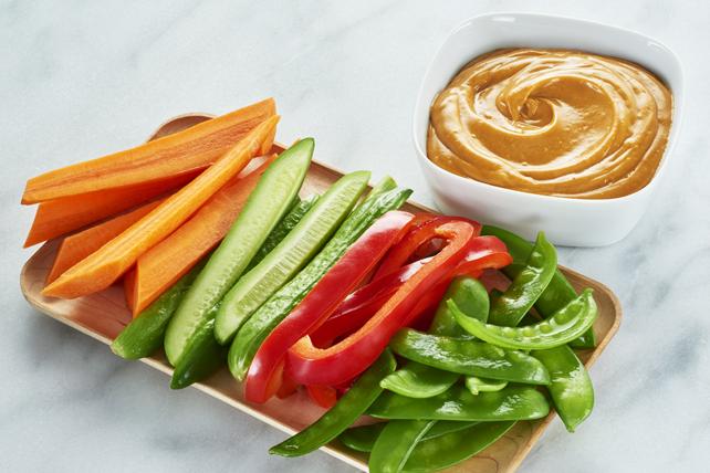 Légumes nappés d'une sauce éclair aux arachides Image 1