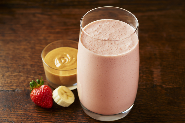 Peanut Butter and Strawberry Delight smoothie