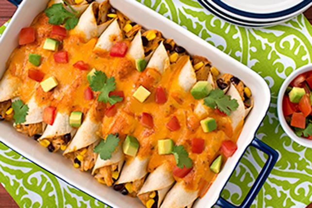 Enchiladas classiques au poulet campagnard Image 1