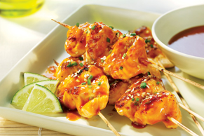 Honey Garlic-Salmon Satays