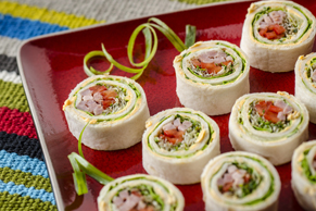 Honey Garlic and Ham Tortilla Roll-Ups