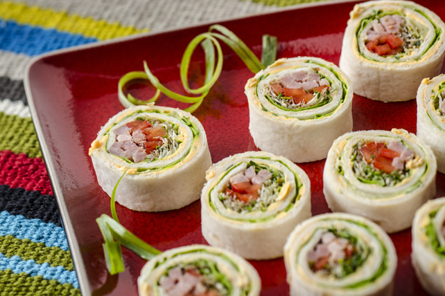 Honey Garlic and Ham Tortilla Roll-Ups Image 1