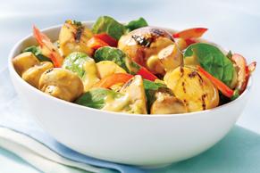 Creamy Grilled Potato & Mushroom Salad