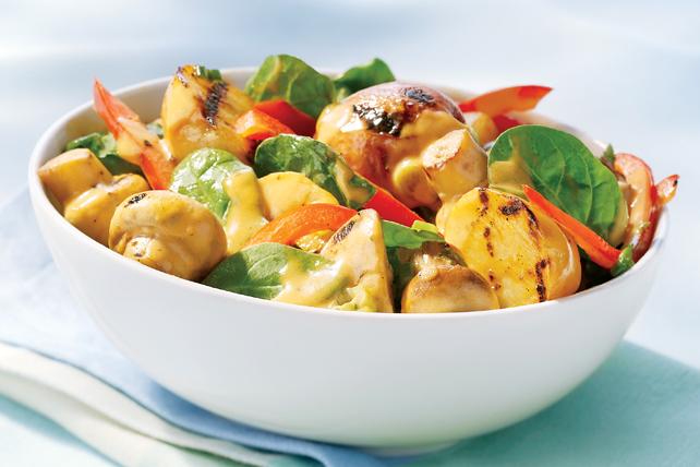 Creamy Grilled Potato & Mushroom Salad Image 1