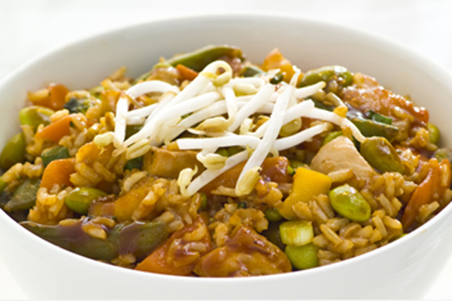 Honey Garlic-Chicken Fried Rice Image 1