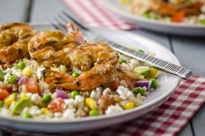 Colourful Quinoa Salad with Shrimp
