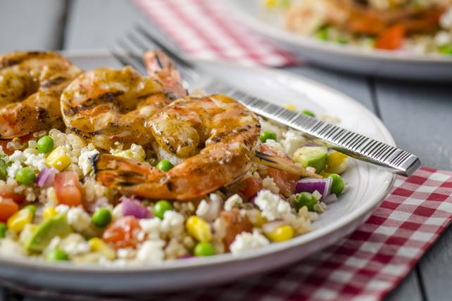 Salade de quinoa multicolore aux crevettes Image 1