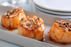 Lemon-Pepper Grilled Scallops