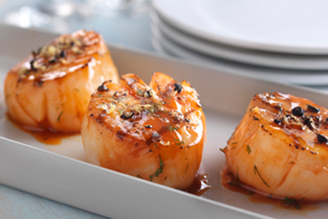 Lemon-Pepper Grilled Scallops Image 1