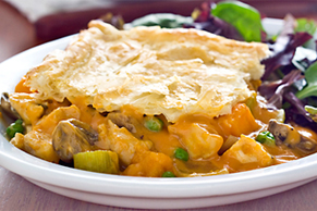 Chicken and Butternut Squash Pot Pie