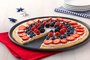 Fourth of July Fruit Pizza