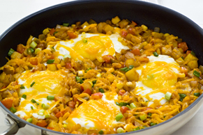 Smoky Skillet Hash with Eggs