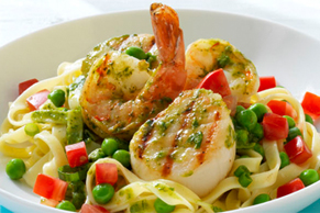 Grilled Seafood Pasta