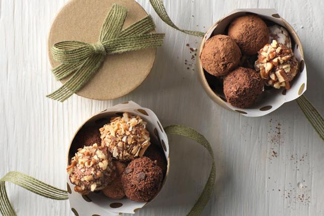 Truffes au chocolat et à la fraise Image 1