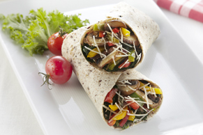 Caesar Mushroom & Sweet Pepper Wrap