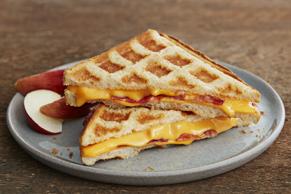 Grilled Cheese au bacon fait au gaufrier
