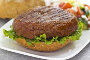 Saucy Chickpea & Mushroom Burgers
