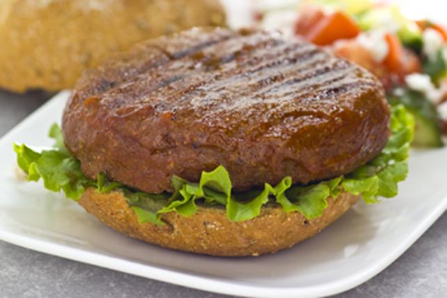 Burgers de pois chiches et de champignons en sauce Image 1