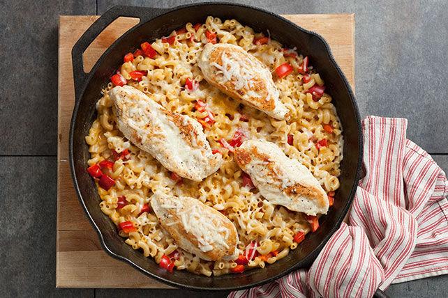 Macaroni au fromage au poulet et au poivron Image 1