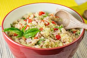 Salade de quinoa croquante aux concombres