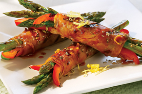 Maple-Glazed Asparagus Bundles