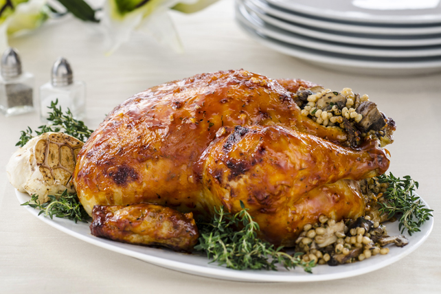 Roasted Chicken with Mushroom & Barley Stuffing Image 1