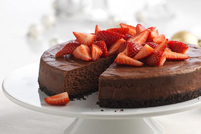 Gâteau au fromage et au chocolat noir Image 1