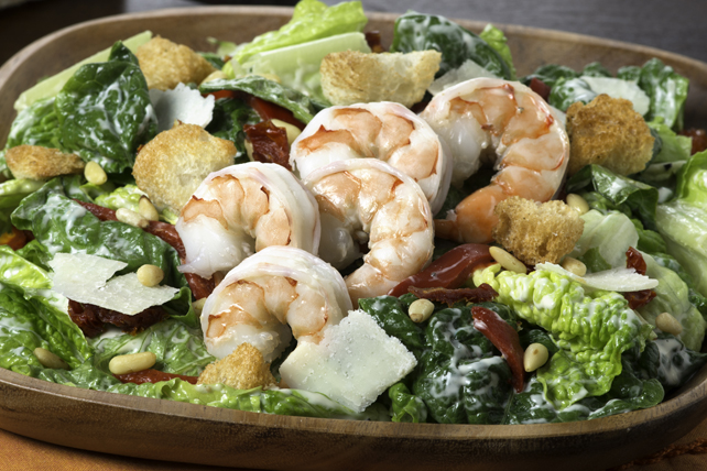 Tuscan Caesar Salad with Shrimp Image 1