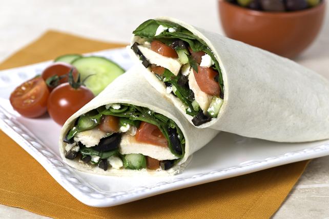 Sandwichs roulés de poulet à la méditerranéenne Image 1