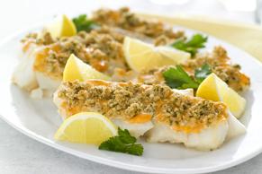 Garlicky Haddock Bake