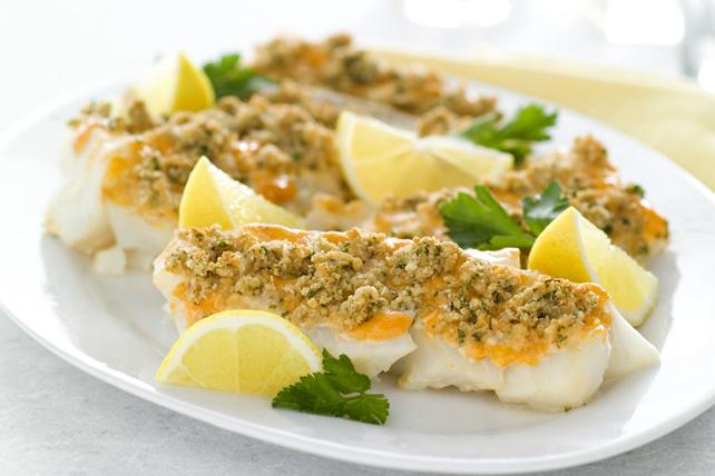 Garlicky Haddock Bake Image 1
