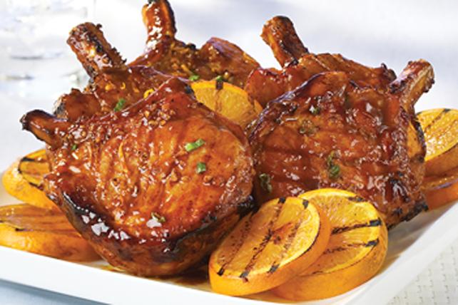 Côtelettes de porc glacées à l'orange Image 1