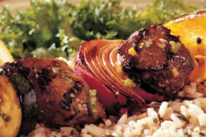Ginger-Teriyaki Beef and Vegetable Kabobs