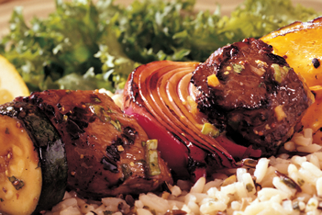 Ginger-Teriyaki Beef and Vegetable Kabobs Image 1