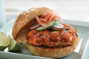 Sesame-Lime Salmon Burgers
