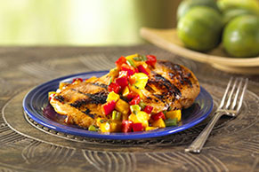 Marinated Mango-Salsa Chicken