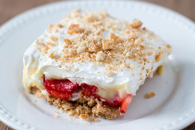 Strawberry-Banana Cream Pie Bars Image 1