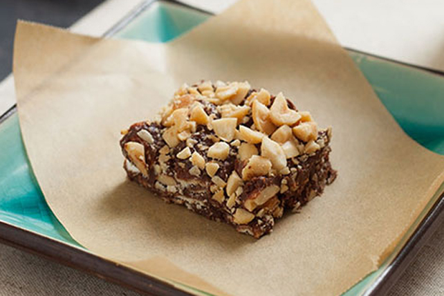 Chocolate-Caramel-Peanut Bars Image 1