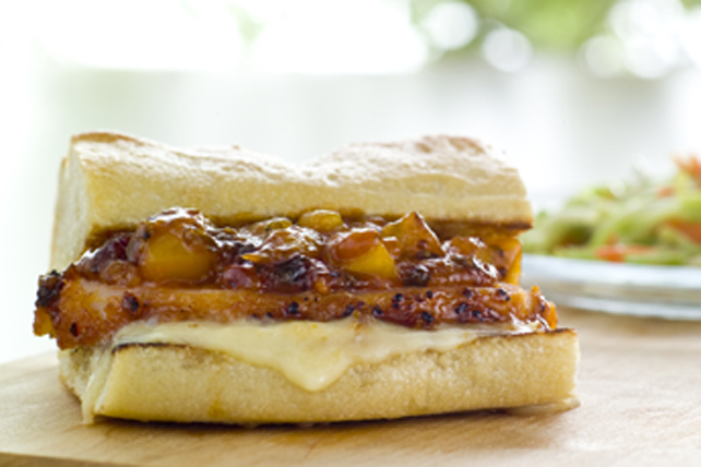 BBQ Peameal Bacon Sandwich with Mango and Brie Image 1