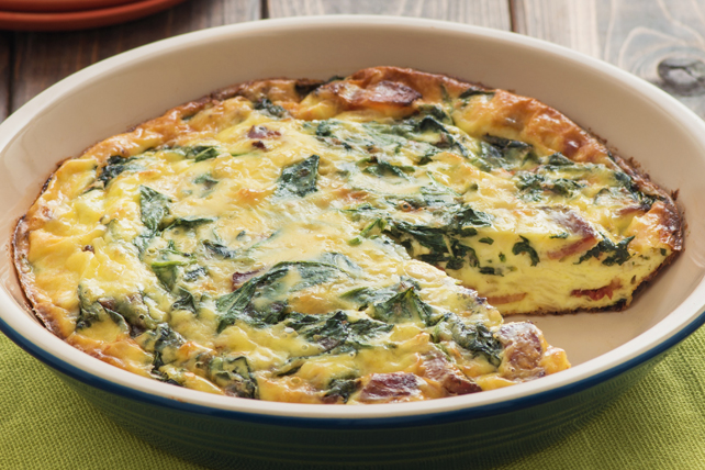 Spinach Crustless Quiche with Bacon Image 1