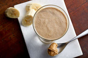 Frosty Peanut Butter-Banana Smoothies Image 1