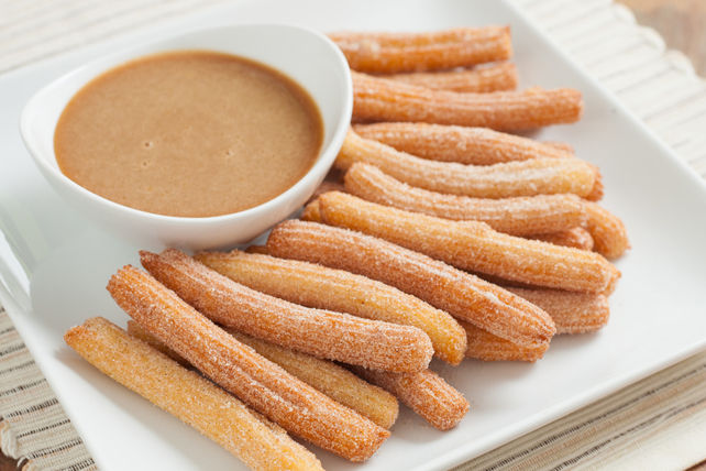 Churros with Caramel Dipping Sauce Image 1