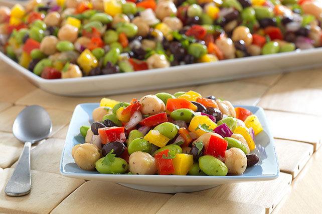 Salade de haricots et d'edamames à la lime et à la coriandre Image 1