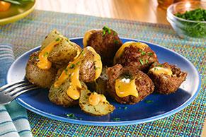 VELVEETA® Slow-Cooker Cheesy Stuffed Meatballs & Potatoes