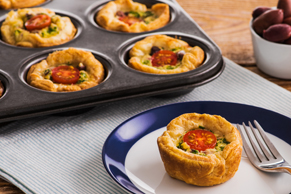 Mini Greek Puff Pastry Quiche Cups
