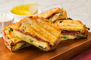 Grilled Pear, Prosciutto and Blue Cheese Panini